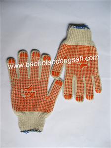 bao ho lao dong - Găng tay sợi hạt nhựa Việt Nam