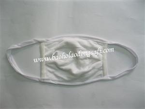 bao ho lao dong - Khẩu trang vải đông xuân trắng 3 lớp