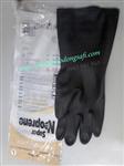 bao ho lao dong - Găng tay cao su chống hóa chất Malaysia mầu đen
