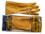 bao ho lao dong - Găng tay cao su chống hóa chất Malaysia mầu vàng