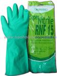 bao ho lao dong - Găng tay cao su chống hóa chất Malaysia mầu xanh L2