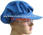 bao ho lao dong - Mũ công nhân nữ màu xanh